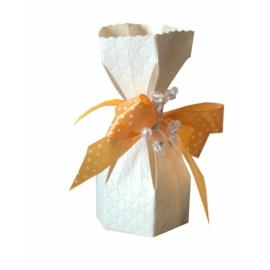 Krém színű egyszemes dobozka
