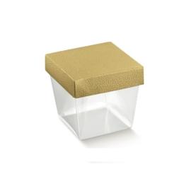 Arany kocka doboz közepes