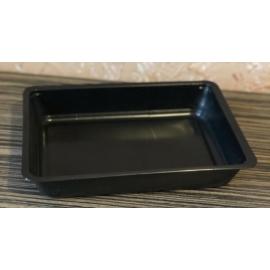 GB600-as egyterű ételszállító doboz fekete, mikrózható