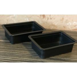 Süteményes fóliázható doboz fekete, mikrózható