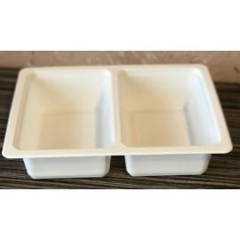 GB800-as 50-50%-ban osztott fóliázható ételszállító doboz, mikrózható
