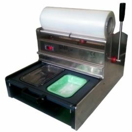 SSM400 körbevágós tálcalezáró csomagológép
