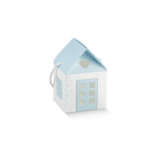 Kis kék házikó babaváró ajándékhoz
