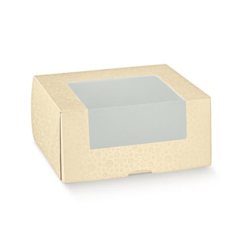 Ablakos krémszínű doboz