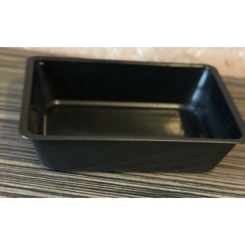 EPP1000-es egyterű ételszállító doboz fekete, mikrózható