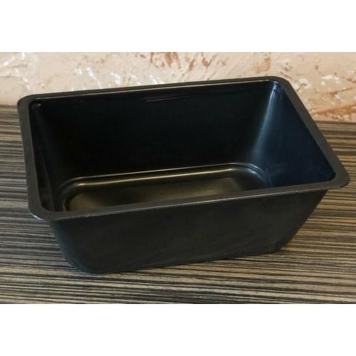 EPP1500-as egyterű ételszállító doboz fekete, mikrózható