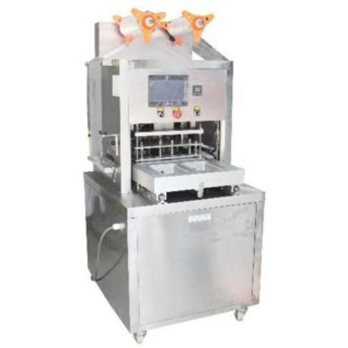 VMT01 félautomata vákuumos, védőgázas tálcalezáró csomagológép
